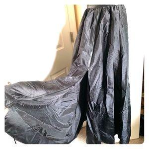 Long Black Skirt, with Optional Split